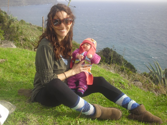 my sweet little baby and I relaxing in the Azores