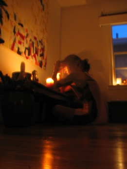 Meditation and prayer after yoga.... higher self and lower self visible