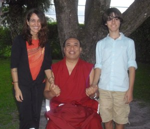 My son and I with my teacher and friend,Geshe