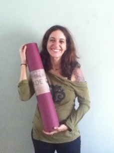 Birthday Girl, Happy about my new Jade Harmoney Yoga Mat...