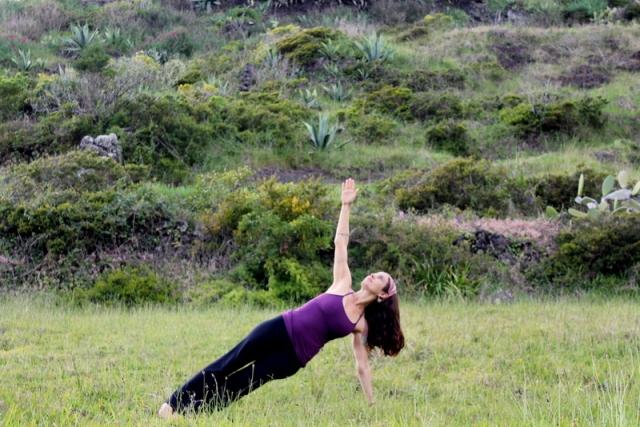 side plank azores, tiffany gore yoga