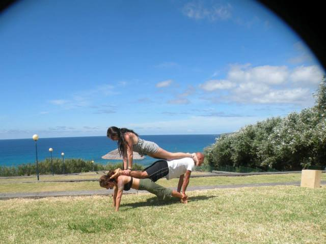 Tapping into my Strength.. Stacked Plank.. Holding the weight of two people