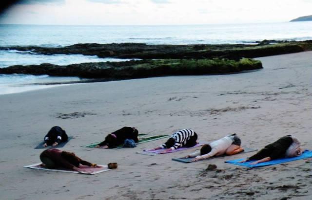 childs pose yoga retreat