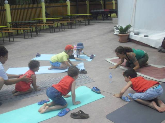 Lions Breath a fun way to introduce yoga