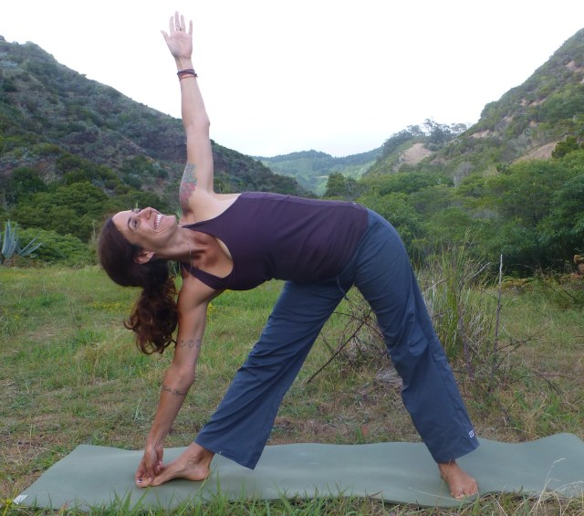 Going Deeper in Triangle: An Option for Triangle pose, Yogis Toe lock