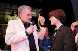 My son performing for Burt Reynolds