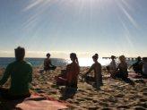 Beach Yoga Reunion Class Lake Worth Florida