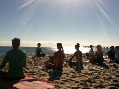 Beach Yoga Reunion Class Lake Worth Florida