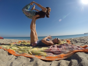 Acro Yoga with Beach Yoga Girl Kerri Verna
