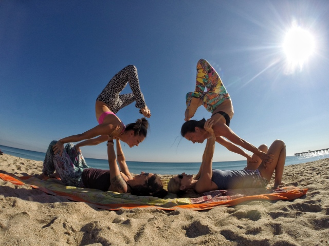 Strength, Trust, Balance, Flexibility, Challenge, Fun, Soaking Up The Sun