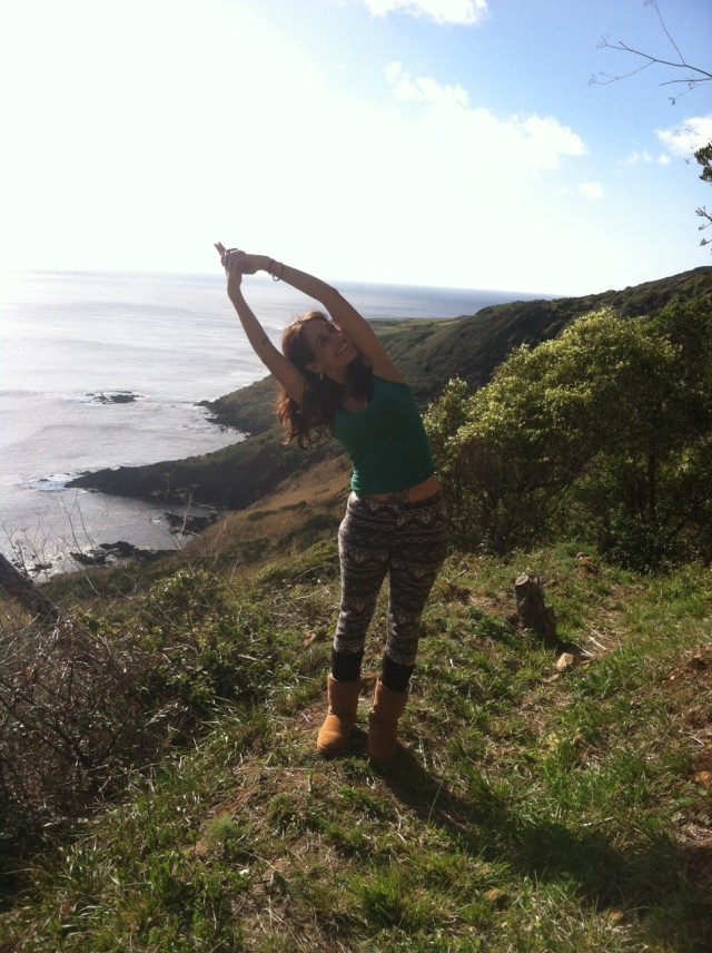The Azores is an amazing place for some outdoor yoga! A warm winters day!