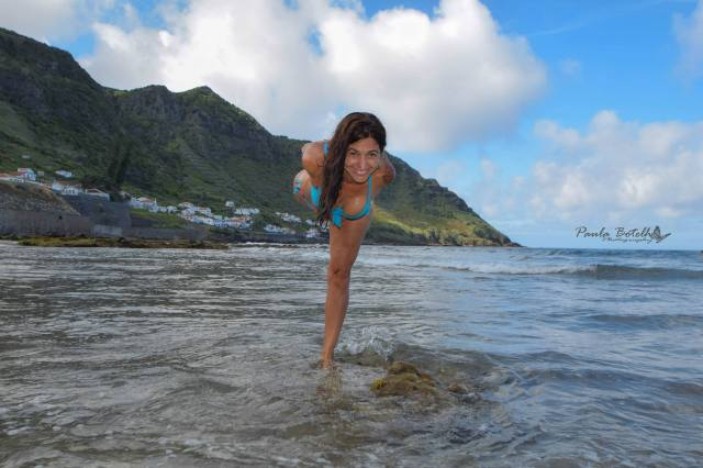 With a Splash, Ocean Yoga, Azores, Photo by Paula Botelho