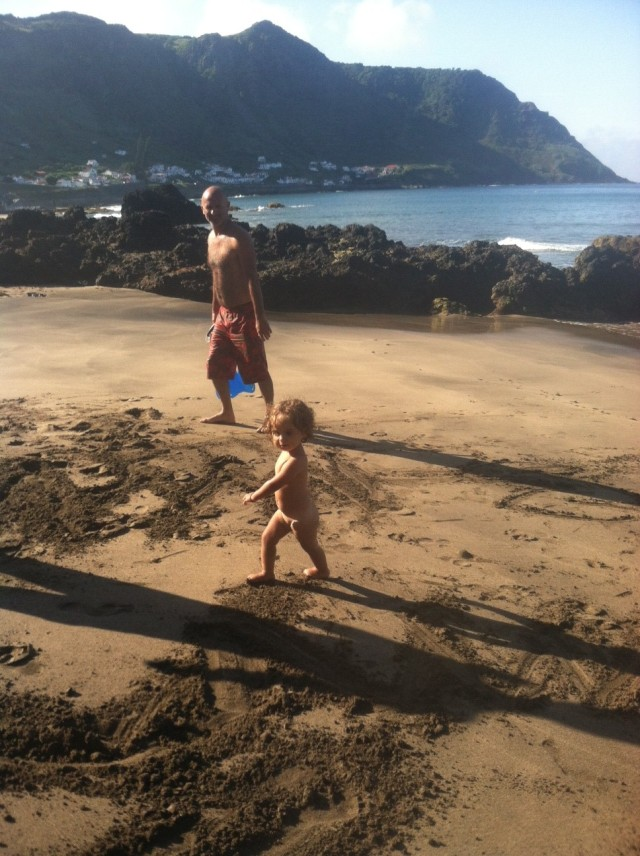 Daddy Daughter Beach Fun, Sao Lourenco Yesterday