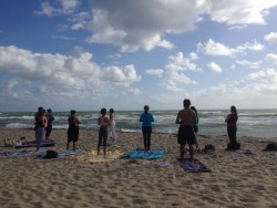 "South Florida , Yoga On The Beach.. ""Kiss The Earth With Your Feet."""