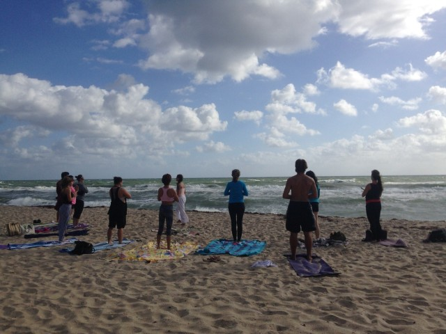 South Florida , Yoga On The Beach..